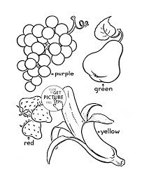Fruits Colour Coloring Page For Kids Fruits Coloring Pages