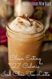 clean eating iced chai tea latte