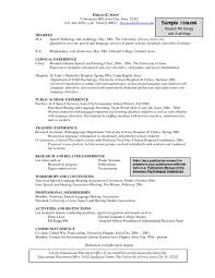 Sample Resume Objective Statement Lovely Speech Pathology Resume