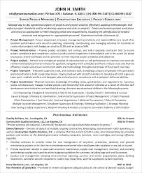 Project Manager Resume Template Word Best of Project Management Resume Example 24 Free Word PDF Documents