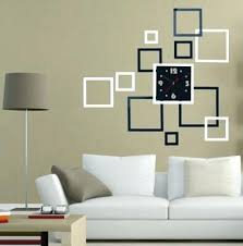 diy office art. Diy Office Wall Decor Square Home Stickers Mirror Surface Art Clock Hot . U