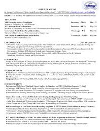 Resume Abhijeet Shinde Vit University Mtech Vlsi Template 2018 Asic