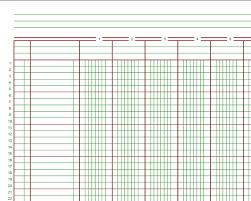 General Ledger Template Printable Ledger Sheets Omfar Mcpgroup Co