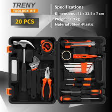 treny jys 20pcs multi use home hand carry tool kit household diy tool set