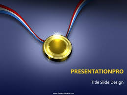 The Gold Medal Powerpoint Template Background In Business