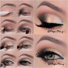 chic office eye makeup tutorial via
