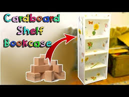 Decorating Cardboard Boxes DIY CRAFTS AMAZING SHELF BOOKCASE WITH CARDBOARD BOXES RECYCLED 71