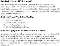 Diabetes Life Insurance Quotes Best Life For Diabetes
