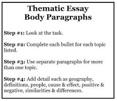 writing thematic essay body paragraphs mr ott s classroom wiki