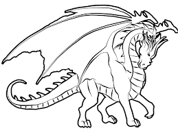 Dragon Coloring Pages Easy Activity Shelter