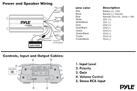 pyle plmrkt4a marine and waterproof amplifier speaker kits wiring and controls diagram