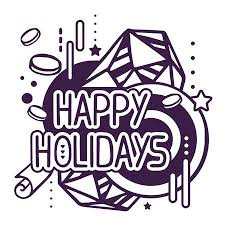 happy holidays black and white. Perfect Holidays Vector  Illustration Of Black And White Happy Holidays Quote On  Abstract Background Hand Draw Line Art Design For Web Site Advertising Banner  Throughout Happy Holidays Black And White Y