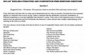 ap literature exam essay prompts prompt for course will sample essays