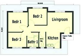Simple House Plan With 3 Bedrooms Simple House Designs Plan Simple 3  Bedroom Design Simple Home