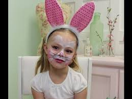 easy bunny face paint tutorial you