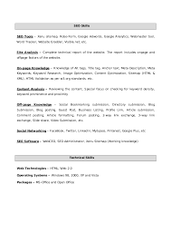 resume past work experience