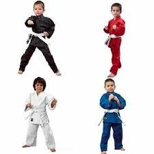 Martial Arts Karate Uniform Gi Lightweight Student White Black Blue Red Ebay