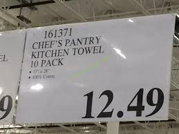 costco 161371 chefs pantry kitchen towel tag