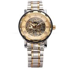 watch box for large watches picture more detailed picture about sewor gold men skeleton mechanical watch stainless steel hand wind watches for men transparent steampunk montre