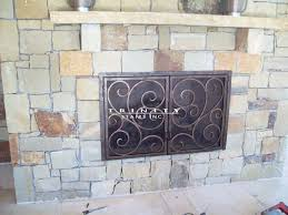 outdoor wrought iron fire place screen 12 fireplace