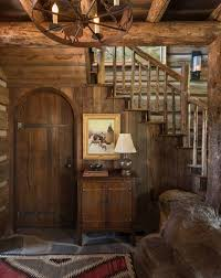 Mountain Rustic Entry Hall Ideas - Year of Clean Water
