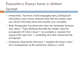 expository essay purpose to inform ppt video online  expository essays have a distinct format