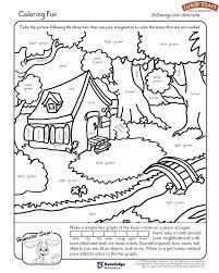 Coloring Fun Kindergarten Coloring Worksheets For Reading Fun ...