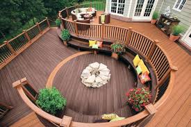 deck ideas. Deck Ideas. Modren Custom Curved Trex Composite Intended Ideas