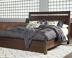 bed. Large Starmore Queen Panel Bed, Brown, Rollover Bed N