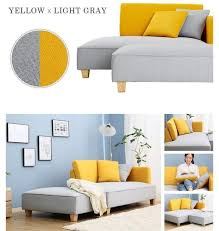 gray and yellow furniture. Yellow And Gray Sofa / Bed Furniture