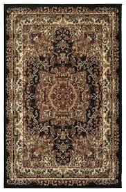 plush indoor area rug black cream contemporary area rugs by lr home