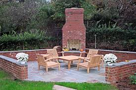 outdoor fireplace designs brick