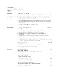 Hvac Resume Templates Perfect Resume