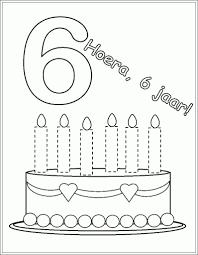 Taart Kleurplaat Met 5 6 Kaarsen Google Zoeken Bc Feest School
