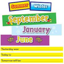 Pocket Chart Calendar Inserts Todays Calendar Pocket Chart