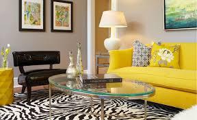 stylish designs living room. Unique And Colorful Living Room Design With Bright Yellow Sofa Idea Cushion Zebra Stylish Designs
