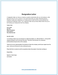 Common Letters : 80+ Samples Professional Letter Of Resignation ...
