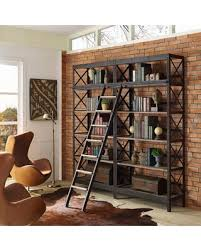 Headway Wood Stand / Shelving Unit Brown Pine & Metal
