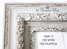 the decorated house diy chalk paint on vintage frame
