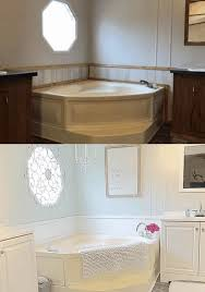 Classic style, with a rolled rim and a stepped base, defines this bath centerpiece. 3 Remedies For Yellow Bathtubs In Mobile Homes