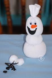 olaf sock snowman tutorial add felt details