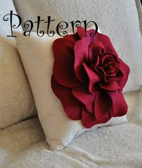 DIY Large Felt Rose with BONUS Pillow PDF Pattern Tutorial Flower Pillow  Accent Pillow epattern how to flower pattern