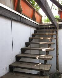 exterior steel stair ideas