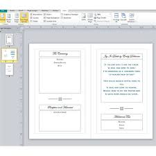 Microsoft Publisher Program Template Sample Funeral Program Layout What Should You Include