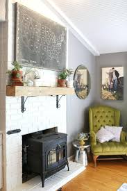 painting over white brick fireplace wall color painted images
