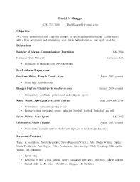 Media Resume Template News Reporter Resume Sample Reporter Cover Letter Journalist Resume