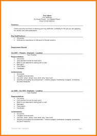 5 Cv Resume Format Sample Theorynpractice