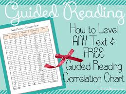 Free Guided Reading Correlation Chart How To Level Any