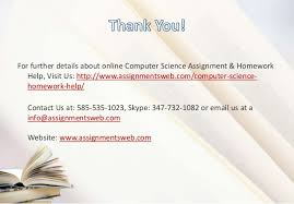 how to learn computer science assignment homework help solutions 8 for further details about online computer science assignment homework help