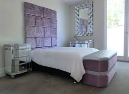 Purple And Silver Bedroom Upholstered Bed Heads Square Panelled Bed Head Silver And